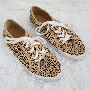 Old Navy cheetah print lace up sneakers size 7
